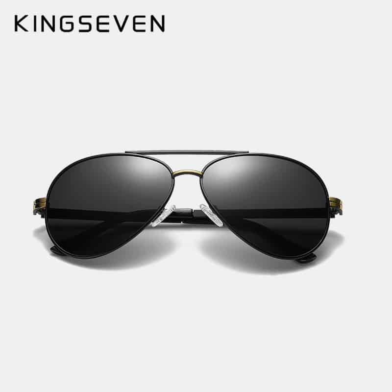 KINGSEVEN Design New Aluminum Men Brand Sunglasses HD Polarized Men/'s Sun