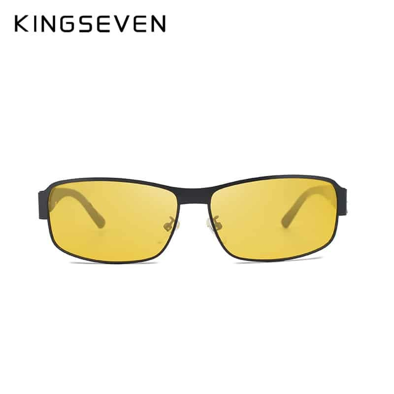 519af86ae44c4 KINGSEVEN Yellow Polarized Sunglasses Men Women Night Vision Goggles  Driving Glasses Driver Aviation Polaroid Sun Glasses UV400