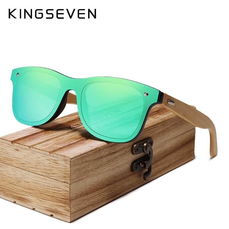 afcbe8e102 KINGSEVEN 2019 Bamboo Polarized Sunglasses - KingSeven Sunglasses