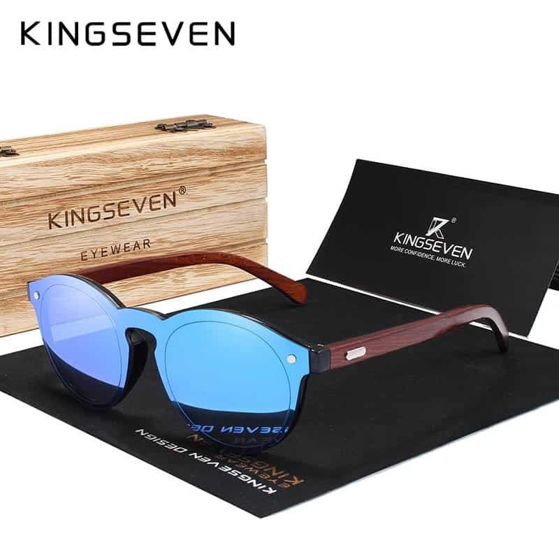 Kingseven Design 2018 Natural Handmade Wood Sunglasses