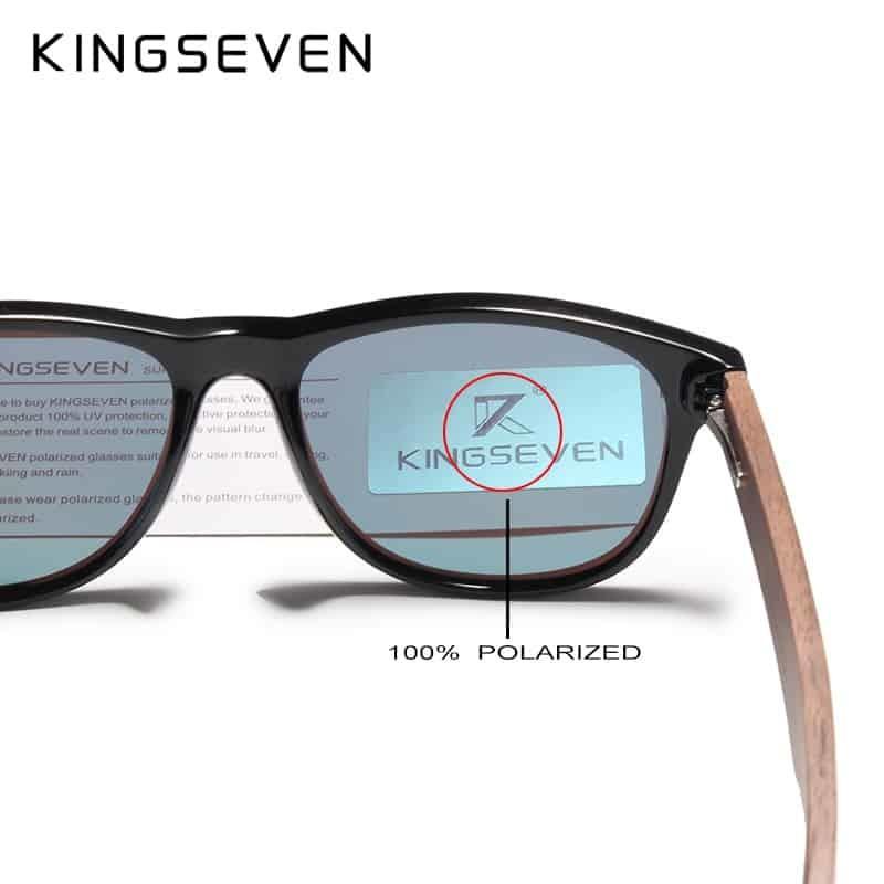 f5fe71c5f03c KINGSEVEN 2019 Black Walnut Sunglasses Wood Polarized Sunglasses Men UV  Protection Eyewear With Wood Box Oculos de sol