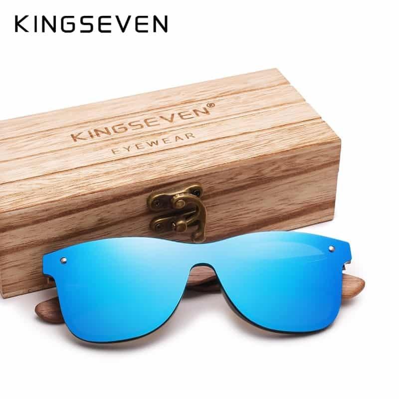 e4baf104e7 KINGSEVEN 2019 Handmade Polarized Walnut Wood Sunglasses Fashion Men Women  Brand Design Colorful Sun Glasses Mirror Shades