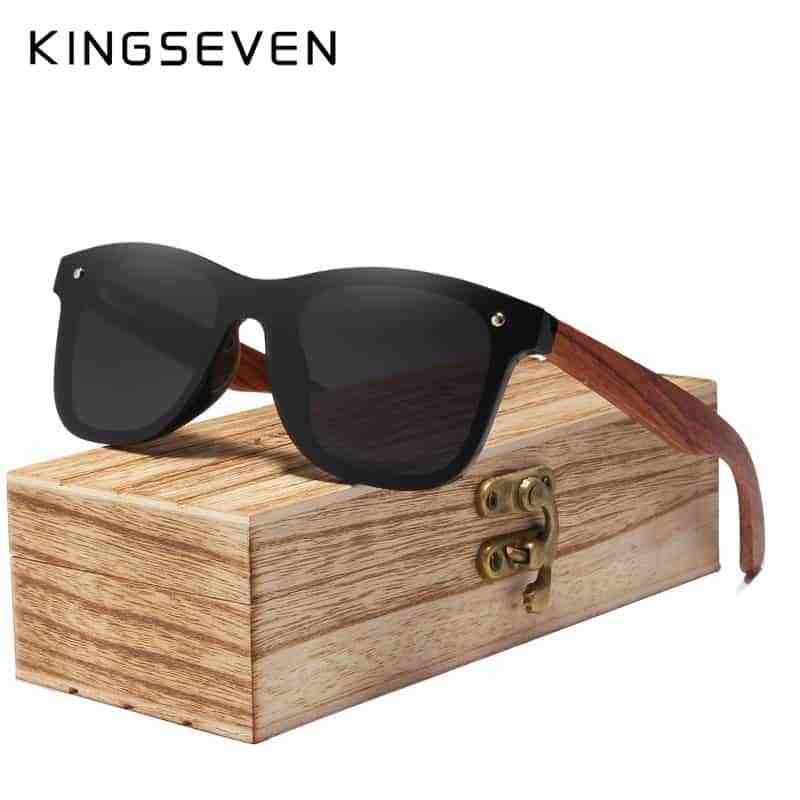 f1ae3b9986 2019 Wood Rimless Polarized Sunglasses - KingSeven Sunglasses